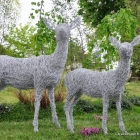 Lifesize deer made of wire for your garden