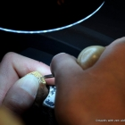 Punching-in the minuscule real diamonds