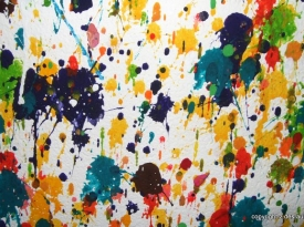 In the style of Jackson Pollock