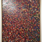 This oil painting shows Zeid's full commitment to abstraction